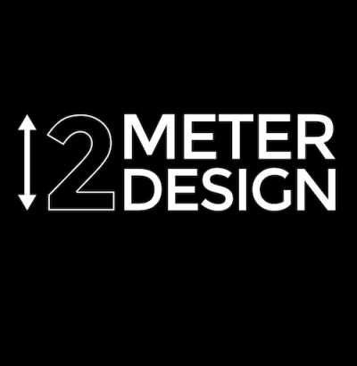 two meter design logo white cutout